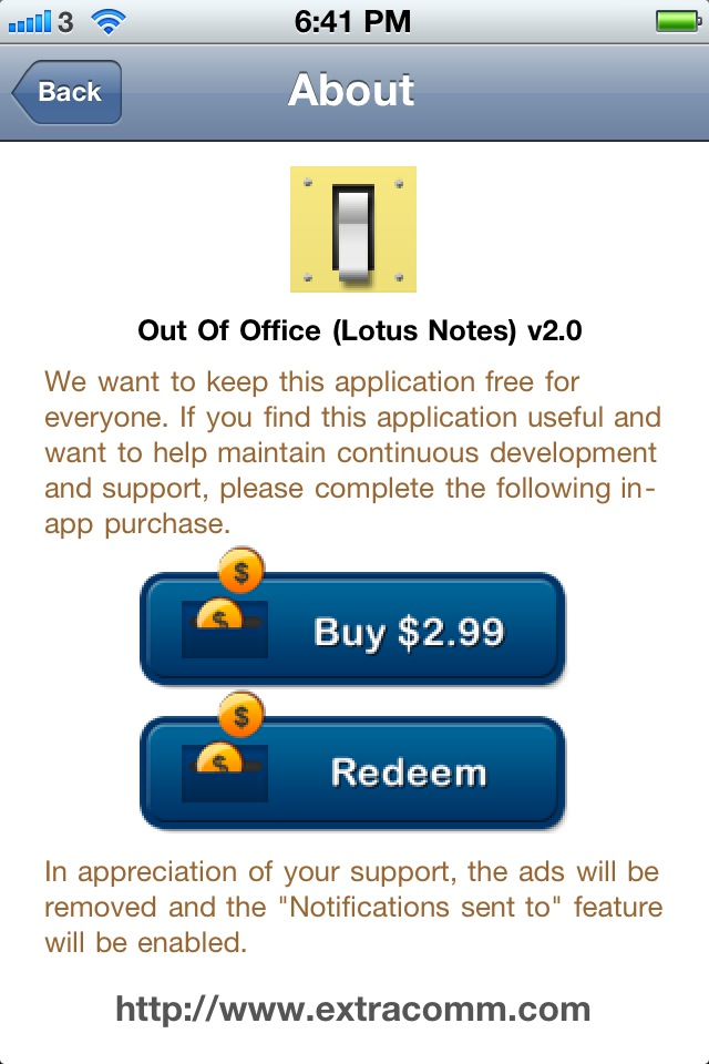 How to use Out-of-Office (OOO) iPhone App redeem code