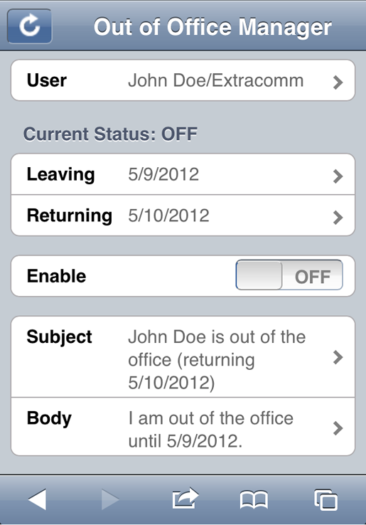 out of office xpages web app the extended template oooex ntf